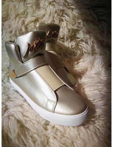 Sneakersy złote