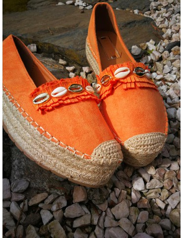 Espadryle orange
